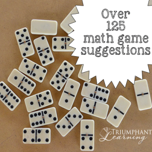 Using math manipulatives and games is an easy way to add spice to your student's math education and enhance his understanding of mathematical concepts. Over 125 suggestions listed by category.