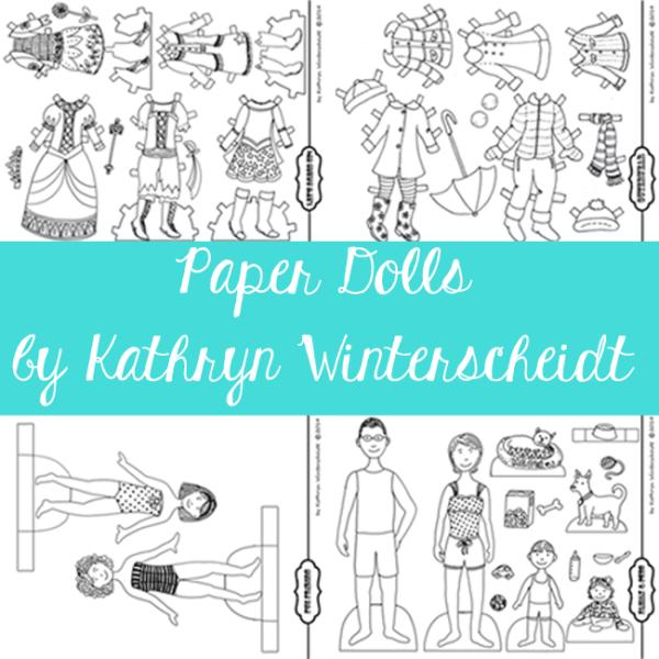 Paper dolls by Kathryn Winterscheidt
