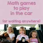 Math Games to Play in the Car
