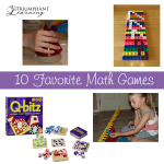 Math games are a fabulous way to encourage kids to learn and use math. Here is a list of our ten favorite math games.