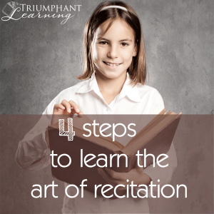 Four Steps To Learn The Art Of Recitation