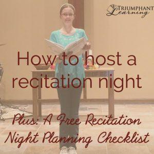 How To Host A Recitation Night