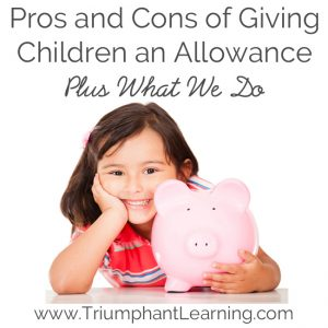 Whether you give your children an allowance or not, there are advantages and disadvantages to doing so. Here is a look at both sides of the allowance debate as well as what we do in our home.