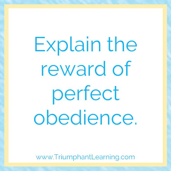 Explain the reward of perfect obedience. Crystal Wagner