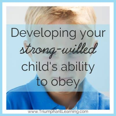Developing your strong-willed child's ability to obey is not easy. Learn how to stop battling him and start training his will to obey.