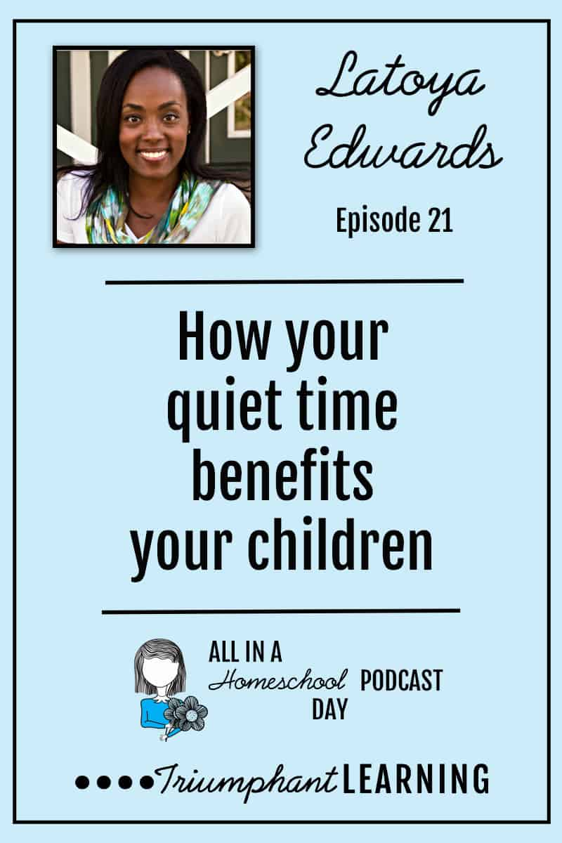 Recognizing the needs of our children can be one of the hardest things we do as parents and home educators. In this episode, Latoya Edwards reminded us that when we take advantage of small moments of time to center ourselves by spending time with God we are able to be more observant and aware of our children's needs. She shares practical tips from her own life of how you can make the most of the small moments you have during your day.
