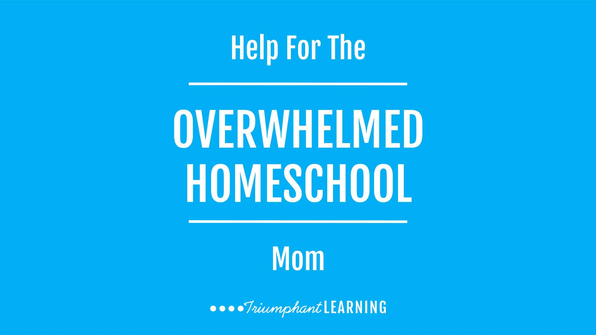 """As moms, we have a lot of responsibilities. And when you add homeschooling on top of that, it can be overwhelming. So how do we get it all done? Learn how you can overcome overwhelm and feel successful at the end of the day in """"Help For The Overwhelmed Homeschool Mom"""" is a podcast series."""