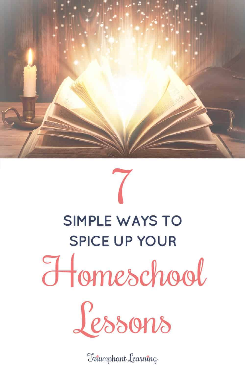 Want your children to look forward to school time? Learn how you can spice up your homeschool lessons without overwhelming your schedule. via @TriLearning
