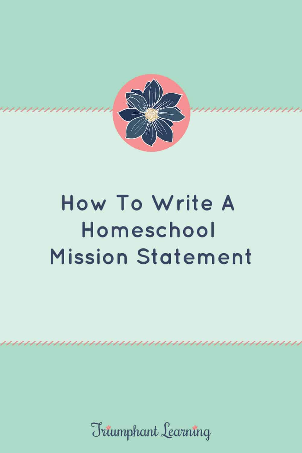 A homeschool mission statement is an invaluable resource to help you evaluate curriculum and make decisions regarding your homeschool, but it can be overwhelming to write one. Learn how to write yours by answering these six questions. via @TriLearning