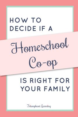 Is a homeschool co-op a good fit for your family? Co-ops are a great option for many families, but they're not a good fit for every family. Learn the pros and cons of co-ops, different types of co-ops, and how to decide if one is right for your family.