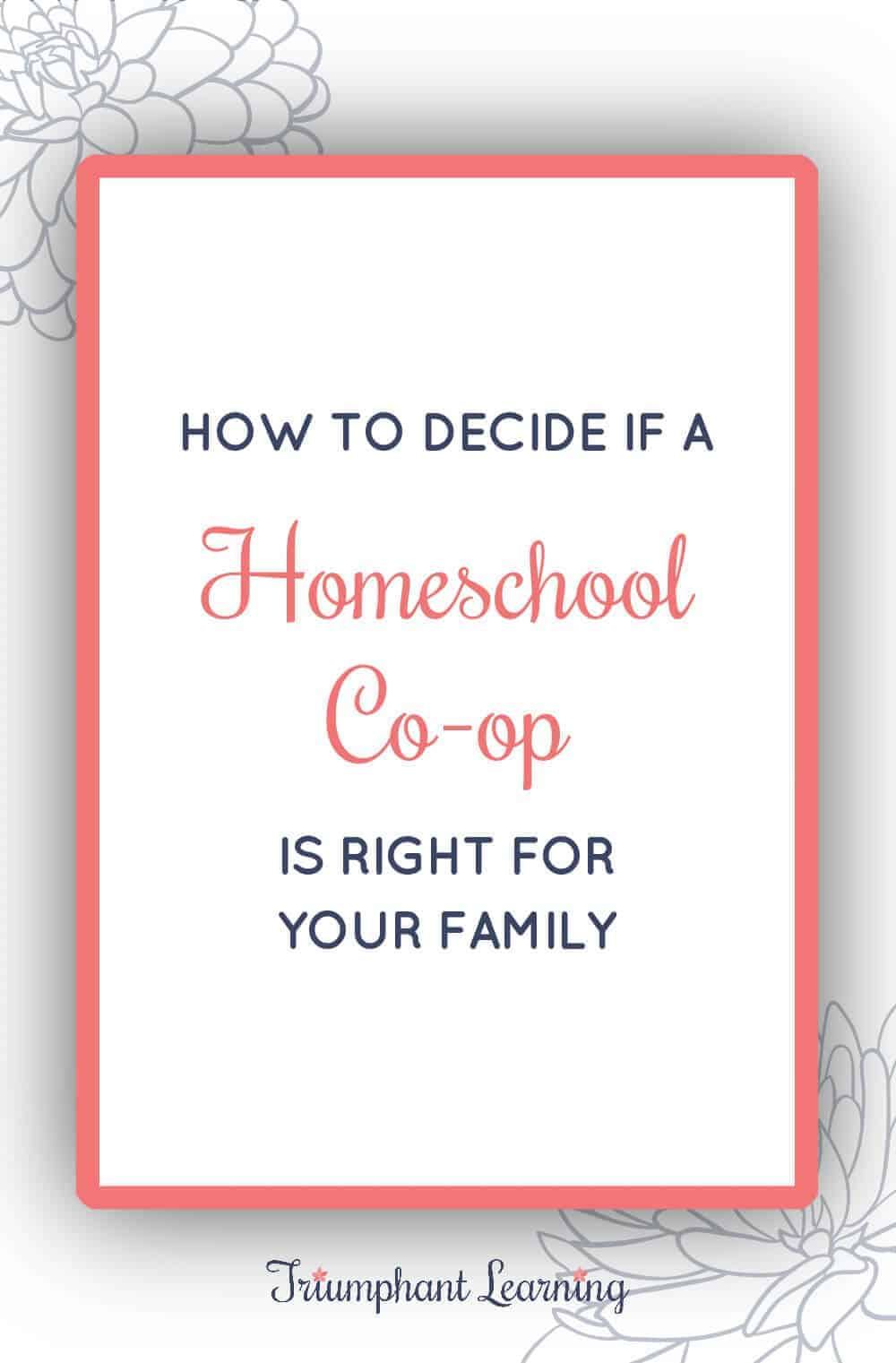 Is a homeschool co-op a good fit for your family? Co-ops are a great option for many families, but they're not a good fit for every family. Learn the pros and cons of co-ops, different types of co-ops, and how to decide if one is right for your family. via @TriLearning