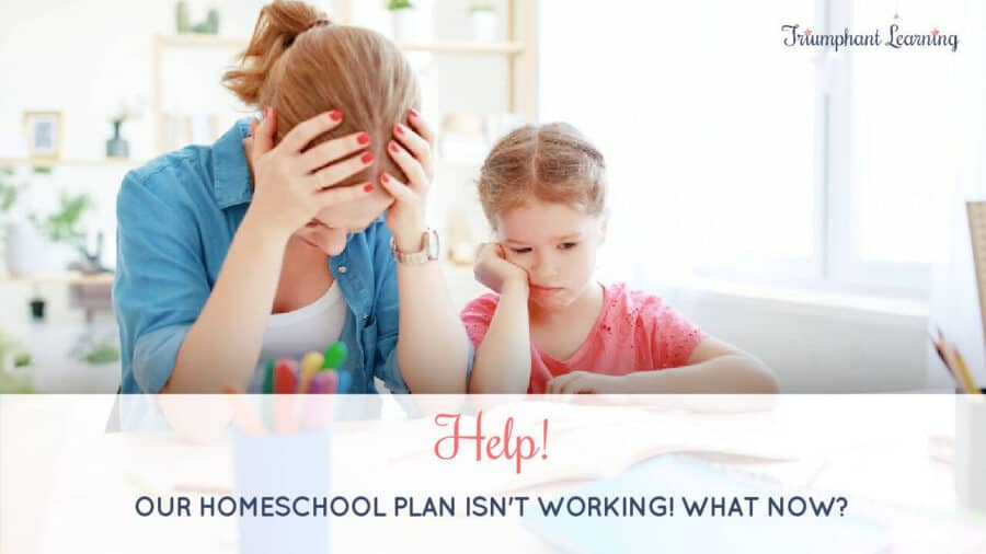 Even the best-made plans sometimes don't work out. Keep these three principles in mind when your homeschool plan isn't working.