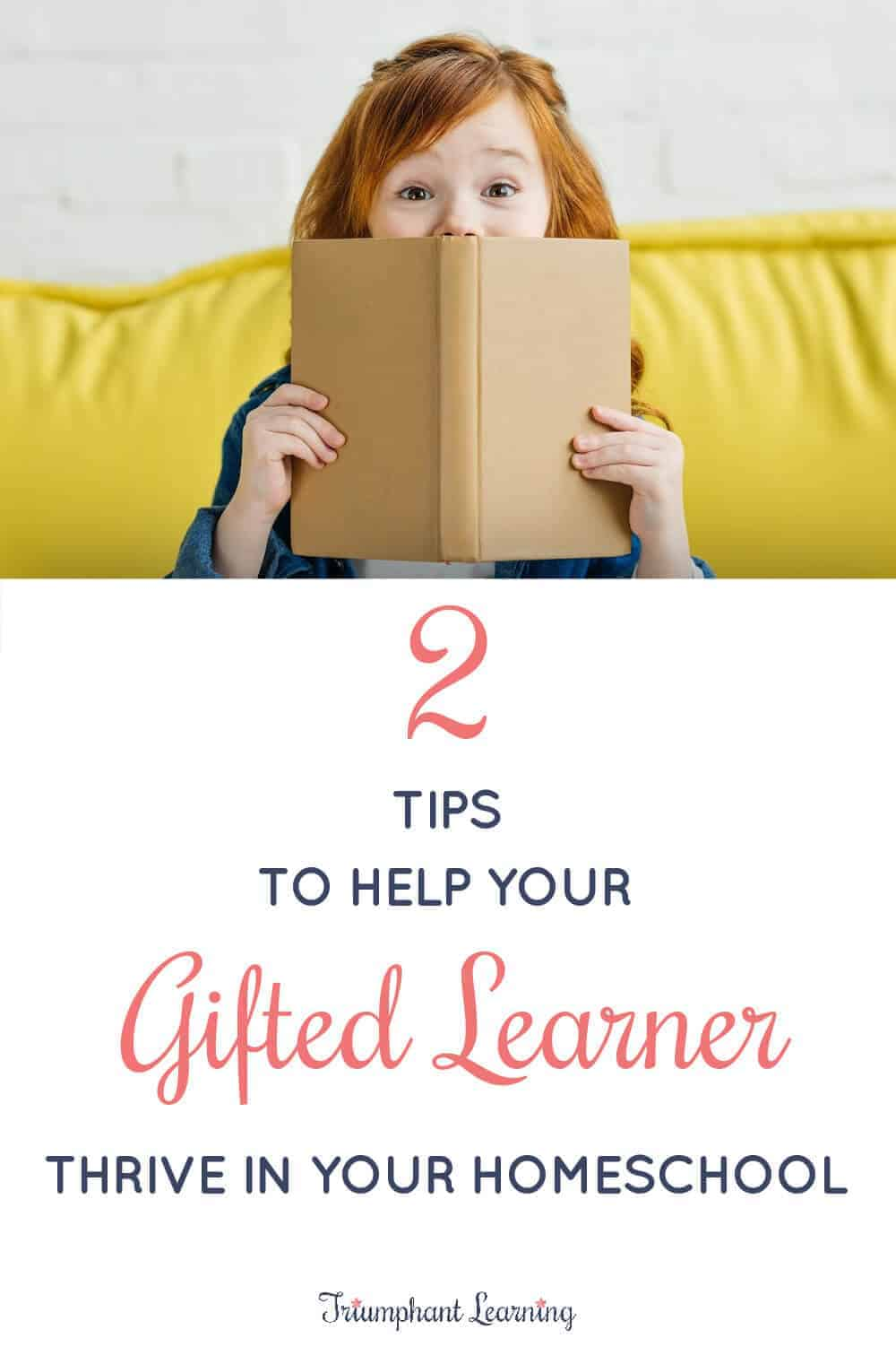 Many gifted students thrive in a homeschool setting. Use these tips to help you and your gifted learner thrive without getting overwhelmed. via @TriLearning