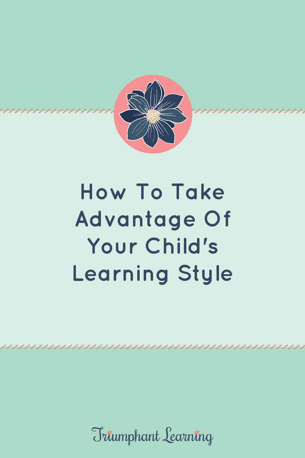 Does your child's learning style matter? Learn what you need to know about learning styles and strategies to use in your homeschool. via @TriLearning