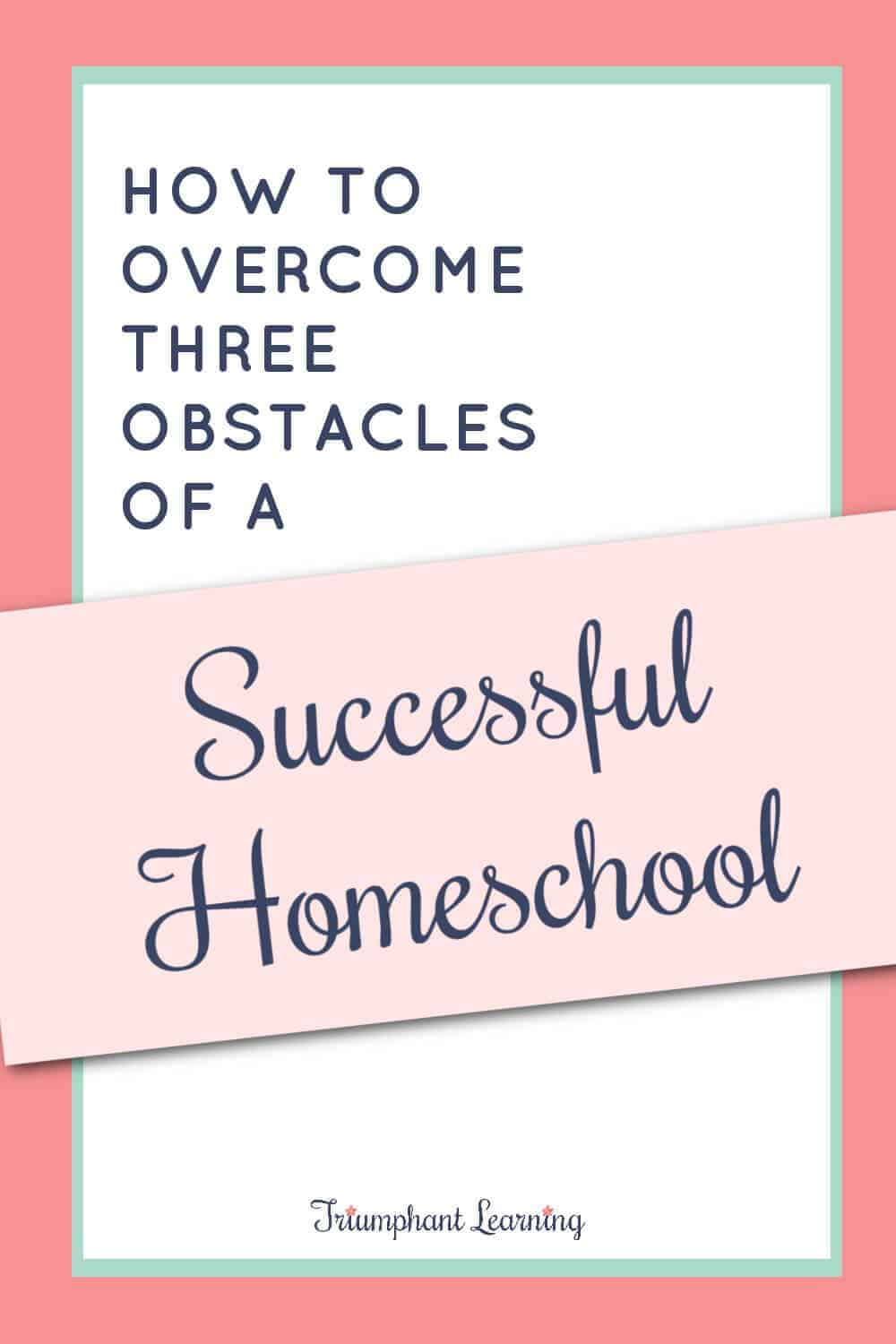 These strategies can help you overcome three common roadblocks that prevent many families from having a successful homeschool! via @TriLearning