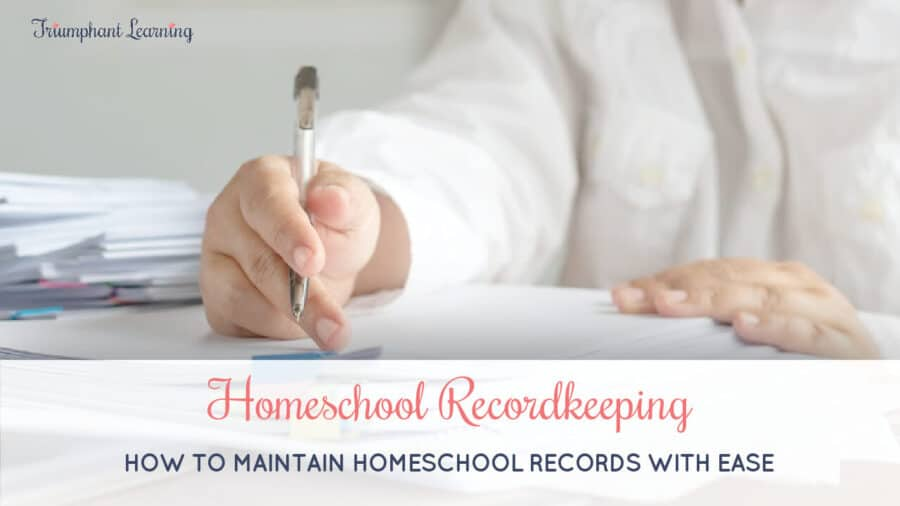 Homeschool recordkeeping does not need to feel overwhelming. Learn what you need to keep, how to gather them, and how to store them.
