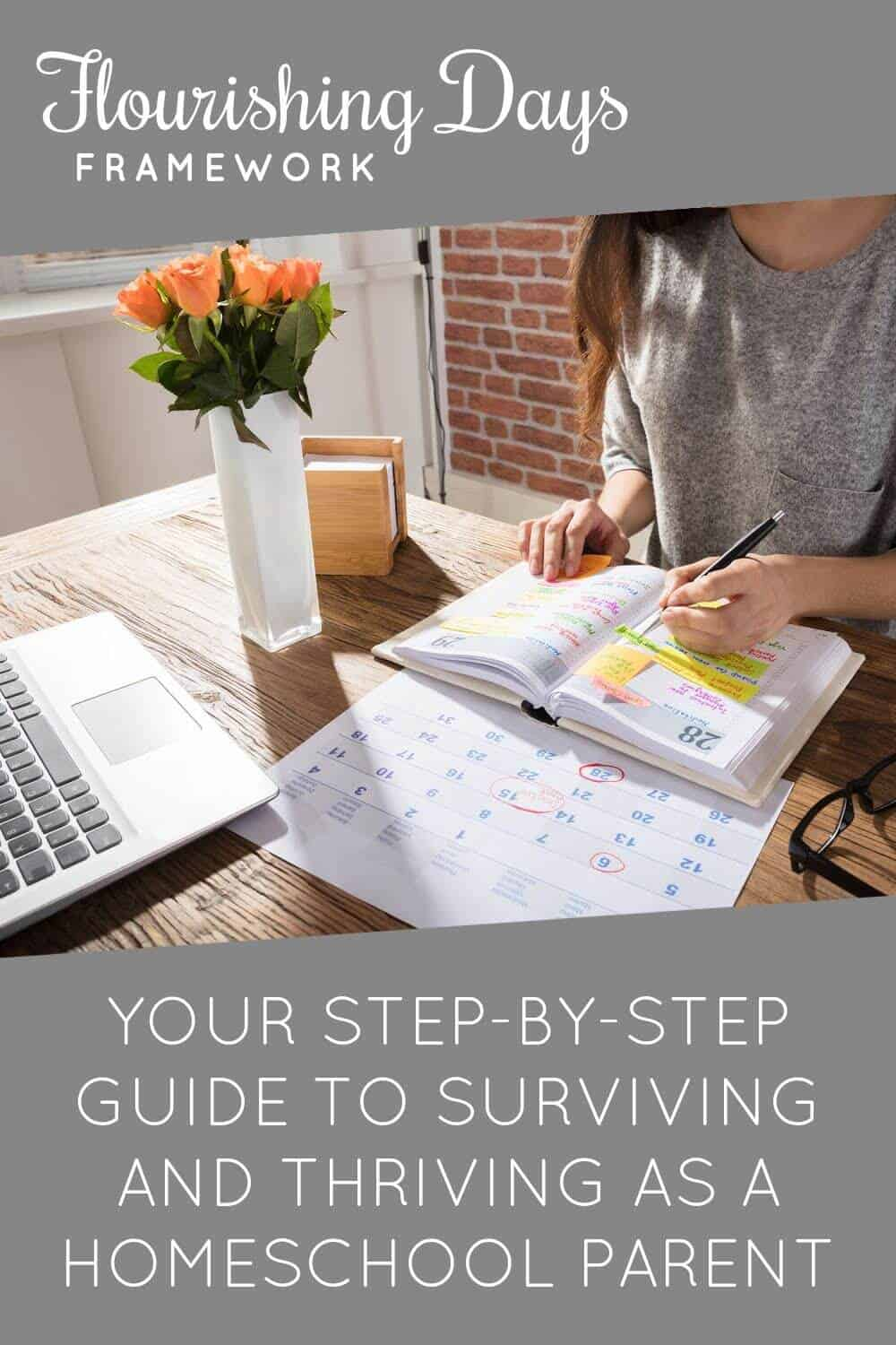 Stop feeling overwhelmed and frazzled. You can flourish as a homeschool parent and manage all the things. Learn how to finally gain control of your day. via @TriLearning