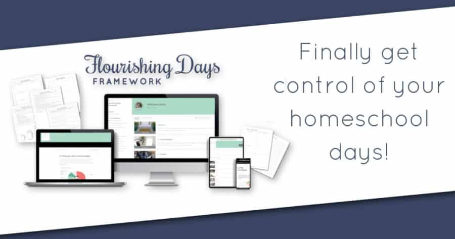 Stop feeling overwhelmed and frazzled. You can flourish as a homeschool parent and manage all the things. Learn how to finally gain control of your day.