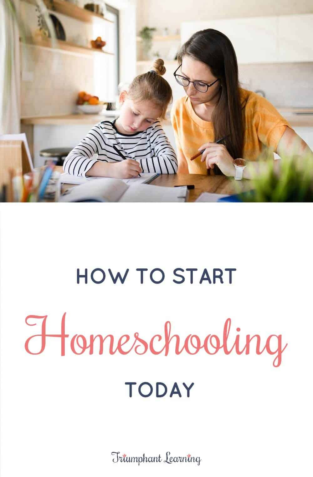 Follow this step-by-step checklist to start homeschooling today! via @TriLearning