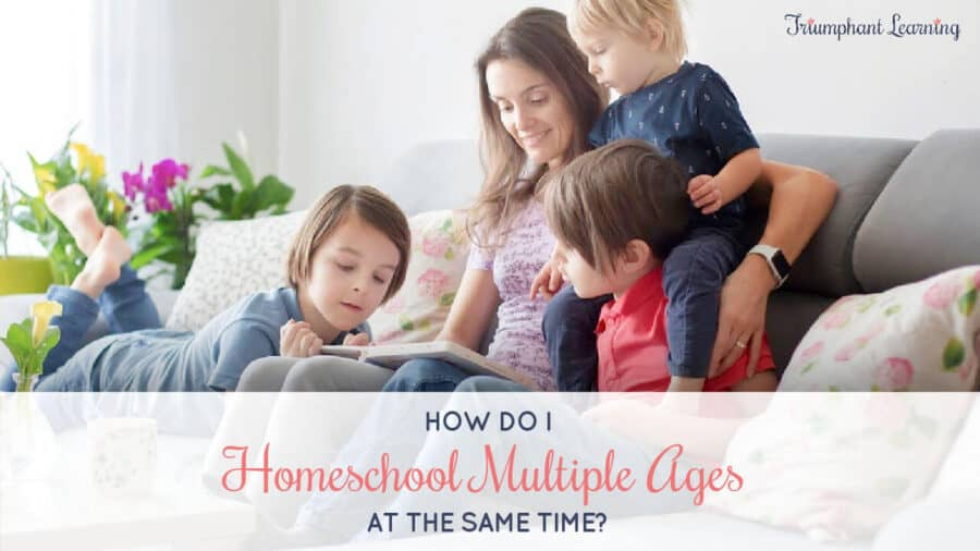 It can feel overwhelming to think about teaching multiple children at the same time. Learn two tips to homeschool multiple ages without losing your mind.