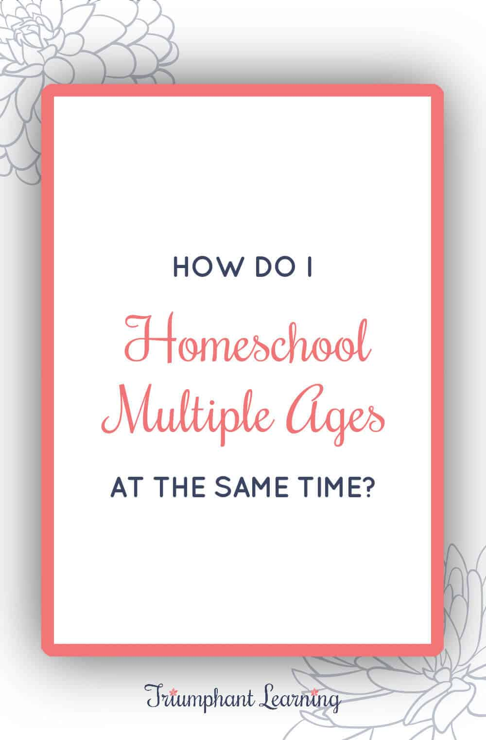 It can feel overwhelming to think about teaching multiple children at the same time. Learn two tips to homeschool multiple ages without losing your mind. via @TriLearning
